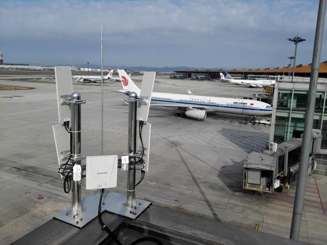 锐捷无线AP在首都国际机场