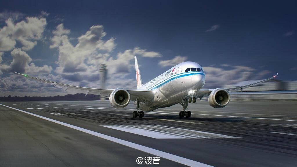 与国航波音B787-9梦想客机对接测试成功