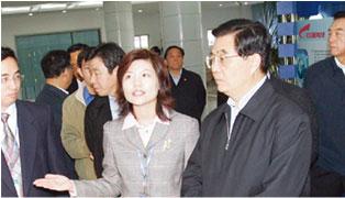 胡锦涛莅临星网锐捷科技园参观考察