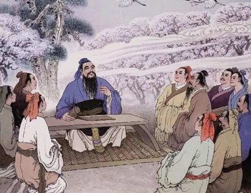孔子与学生简笔画